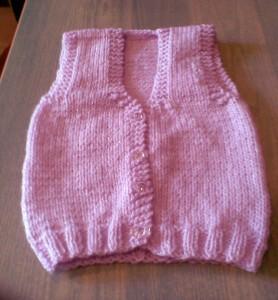 Παιδικό ροζ γιλεκάκι