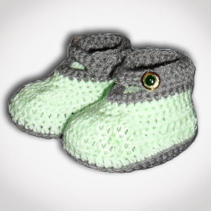 Πράσινα παιδικά παπουτσάκια
